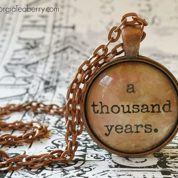 A Thousand Years, glass dome necklace, pendant, gift ideas, wedding party, groomsmen, bridesmaids, favors, First Dance, Christina Perri Song