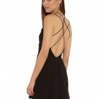 Glamorous Glam Night Strappy A-Line Dress in Black - Glue Store