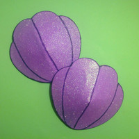 Large purple mermaid  seashell pasties