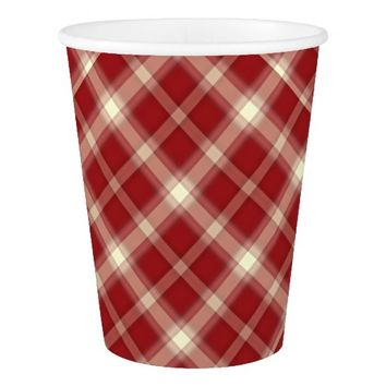 Christmas Plaid 10-PAPER CUPS