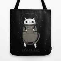 space cat Tote Bag by Louis Roskosch | Society6