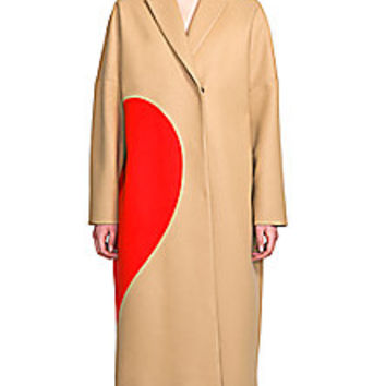 MSGM - Long Stretch-Wool Heart Coat - Saks Fifth Avenue Mobile