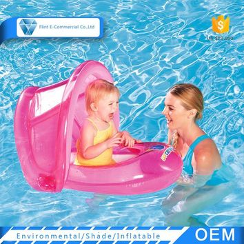 Baby Water Inflatable Float Swim Ring Seat with Sunshade