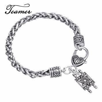 Teamer New Arrival Hebrew Sefer Torah Scroll Supernatural Pendant Bracelet Wicca Amulet Talisman for Man/Woman