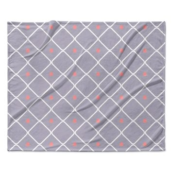 "KESS Original ""Lilac Web"" Lavendar Pink  Fleece Throw Blanket"