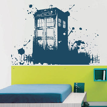 Kсik2254 Wall Decal Sticker Time Machine Spaceship Tardis Doctor Who Living  Childrenu0027s Bedroom