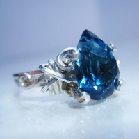 London Blue Topaz Sterling Silver Ring