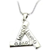 Mama Designs Basic Inspirational Love Triangle Pendant | Overstock.com Shopping - The Best Deals on Necklaces