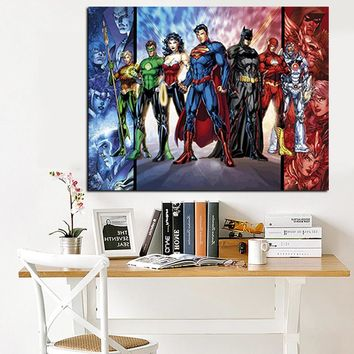 Modern Movie Art Cartoon DC Comics Painting Print on Canvas Modern Wall Pop Giclee Art Picture for Kid Room Poster Cuadros Decor