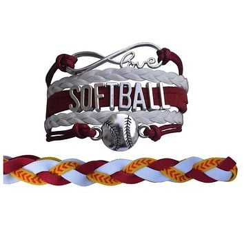 Softball Jewelry Set For Girls (Bracelet & Headband)