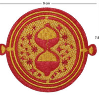 Time Turner Iron/Sew On Embroidered Patch Badge hogwarts Embroidery Sand timer | eBay