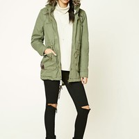 Hooded Faux Fur-Trim Parka