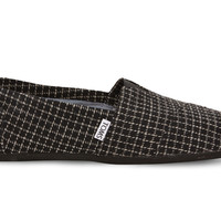 TOMS Black Tailored Checkered Men's Classics Black