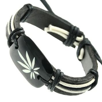 Rasta Genuine Leather unisex Bracelet