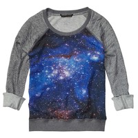 Long-Sleeved Sweater With Galaxy Sheer Print - Scotch & Soda