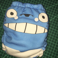 Hybrid fitted OR AI2 cloth diaper - Totoro