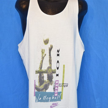 80s Nike Super Volleyball Tank Top t-shirt Extra Large