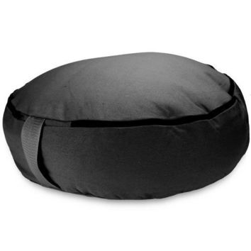 "Black 18"" Round Zafu Meditation Cushion"