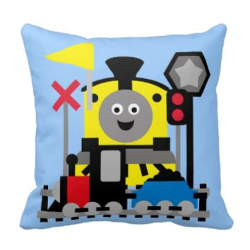 Smiling Train Pillow