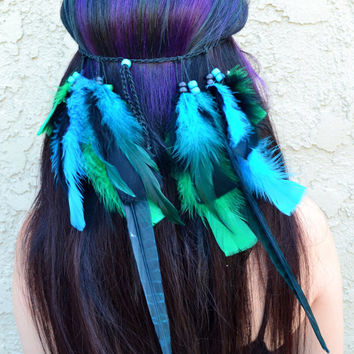 Pheasant Feather Headband #B1022