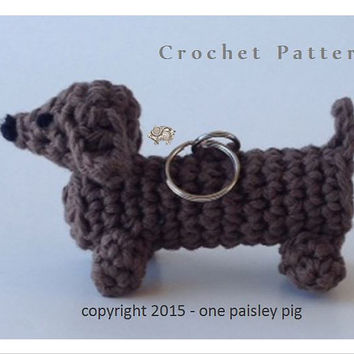 Lip Balm Holder Dachshund / Wiener Dog - PDF CROCHET PATTERN