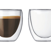 Double Wall Glasses, Set of 2, Coffee Mugs
