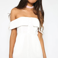 Blessed Playsuit - White