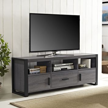 "60"" TV Stand Console - Charcoal"