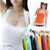 Sexy Fashion Women's Halter Neck Low Cut Tight Vest Shirt Tank Tee Cami Backless Top = 1705673988