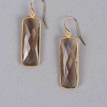 Treisi Rectangle Drop Earring