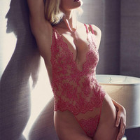 intimate semi-sheer halter lace V-Neck Pajamas