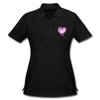Love Valentines Day Women's Pique Polo Shirt - Women's Pique Custom Polo Shirt