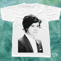 Harry Style Shirt One Direction T-Shirts 1D TShirts Pop Rock Tee Shirts White TShirts Unisex TShirts Women TShirts Men TShirts