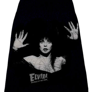 Elvira Spider Web Photo Print T-Shirt Skirt™