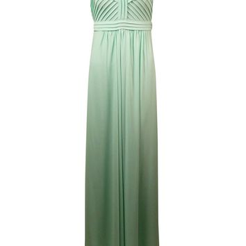 Calvin Klein Women's Beaded Pintucked Jersey Strapless Gown
