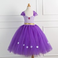 Children Clothes Baby Girl Dress Princess Sofia Costume Girls Kids Birthday Party Bling Fancy Purple Tutu Dress Clothing