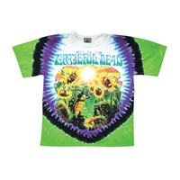 Grateful Dead Men's  Sunflower Terrapin Tie Dye T-shirt Multi