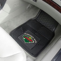 FanMats Minnesota Wild 2-pc Heavy Duty Vinyl Car Mat Set 18x27
