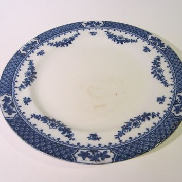 F Winkle Co England Porcelain Signature Blue White Charger