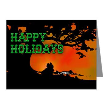 GWTW Tara Holiday Note Cards (Pk of 10)> Happy Holidays from Tara> Rhett And Scarlett
