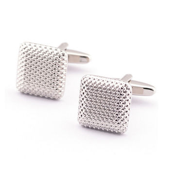 Elegant Men Cufflinks Glossy Three-Dimensional Emboss Spots Pattern Exquisite Cuff Button Cuff-link SM6