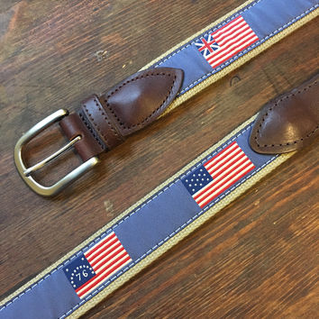Belted Cow American Flag Belt - 75% Off