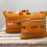 "16"" x 16""  Vintage Home Decor Moroccan Kilim Pillow Cover- Vintage Woven Wool Cushion"