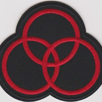 Led Zeppelin Iron-On Patch Red Circles Logo