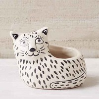 Assembly Home Ceramic Cat Planter- Black & White One