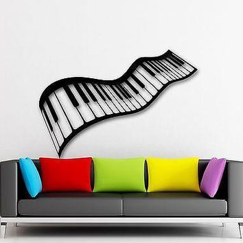 Wall Stickers Vinyl Decal Music Sheet Piano-Keys Musician Cool Decor Unique Gift (ig985)