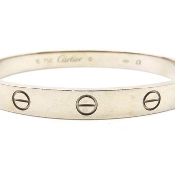 Cartier Love Bangle Bracelet Cartier#16 18K White Gold 0466