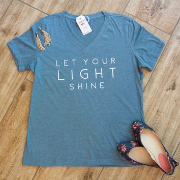 Let Your Light Shine Relaxed Ladies Vneck