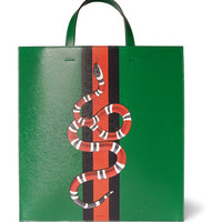 Gucci - Painted Full-Grain Leather Tote Bag