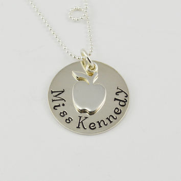 Personalized Teacher's Necklace